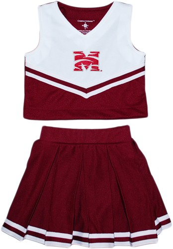 release date: b87b4 d94f8 Authentic Morehouse Maroon Tigers 2-Piece Cheerleader Dress