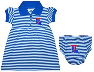 1aaa8f4a5 Louisiana Tech Bulldogs Striped Game Day Dress with Bloomer