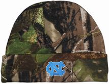 North Carolina Tar Heels Newborn Realtree Camo Knit Cap