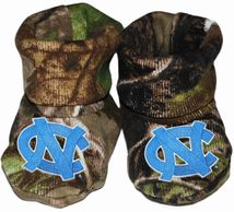 North Carolina Tar Heels Realtree Camo Baby Bootie