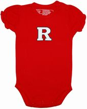Rutgers Scarlet Knights Puff Sleeve Bodysuit