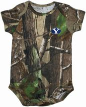 BYU Cougars Realtree Camo Newborn Infant Bodysuit