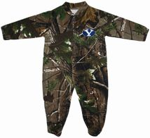 BYU Cougars Realtree Camo Footed Romper