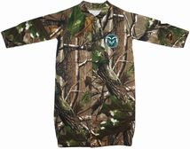 "Colorado State Rams Realtree Camo ""Convertible"" Gown (Snaps into Romper)"