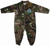 Colorado State Rams Realtree Camo Footed Romper