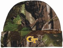 Georgia Tech Yellow Jackets Newborn Realtree Camo Knit Cap