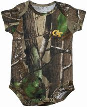 Georgia Tech Yellow Jackets Realtree Camo Newborn Infant Bodysuit