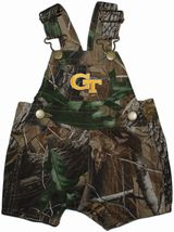 Georgia Tech Yellow Jackets Realtree Camo Short Leg Overall