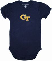 Georgia Tech Yellow Jackets Puff Sleeve Bodysuit