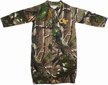 "Georgia Tech Yellow Jackets Realtree Camo ""Convertible"" Gown (Snaps into Romper)"