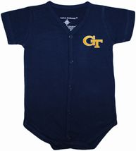 Georgia Tech Yellow Jackets Front Snap Newborn Bodysuit