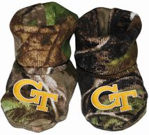 Georgia Tech Yellow Jackets Realtree Camo Baby Bootie