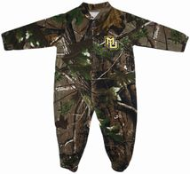 Marquette Golden Eagles Realtree Camo Footed Romper