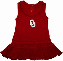 Oklahoma Sooners Ruffled Tank Top Dress