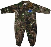 Penn State Nittany Lions Realtree Camo Footed Romper