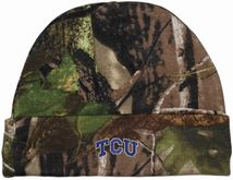 TCU Horned Frogs Newborn Realtree Camo Knit Cap
