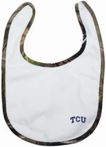 TCU Horned Frogs Realtree Camo Newborn Bib