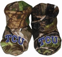TCU Horned Frogs Realtree Camo Baby Bootie