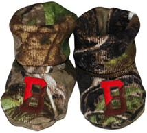 Brown Bears Realtree Camo Baby Bootie
