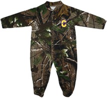 Carroll College Fighting Saints Realtree Camo Footed Romper