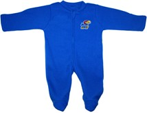 Kansas Jayhawks Fleece Footed Romper