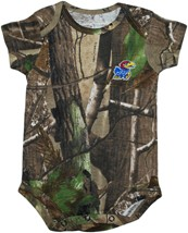 Kansas Jayhawks Realtree Camo Newborn Infant Bodysuit