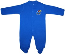 Kansas Jayhawks Footed Romper