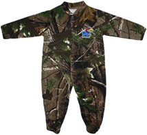 Kansas Jayhawks Realtree Camo Footed Romper