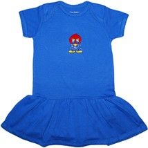 Kansas Jayhawks Baby Jay Picot Bodysuit Dress