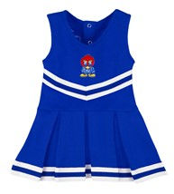 Kansas Jayhawks Baby Jay Cheerleader Bodysuit Dress