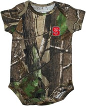 NC State Wolfpack Realtree Camo Newborn Infant Bodysuit