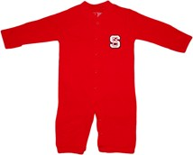 "NC State Wolfpack ""Convertible"" Gown (Snaps into Romper)"