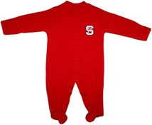 NC State Wolfpack Footed Romper