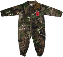 NC State Wolfpack Realtree Camo Footed Romper
