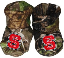 NC State Wolfpack Realtree Camo Baby Bootie