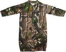 "West Virginia State Yellow Jackets Realtree Camo ""Convertible"" Gown (Snaps into"