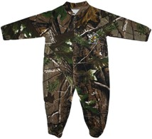 West Virginia State Yellow Jackets Realtree Camo Footed Romper
