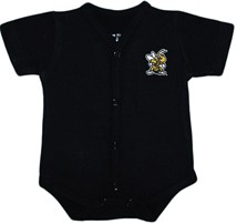 West Virginia State Yellow Jackets Front Snap Newborn Bodysuit