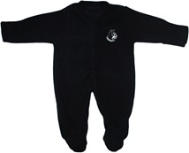 Wofford Terriers Fleece Footed Romper