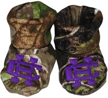 Holy Cross Crusaders Realtree Camo Baby Bootie