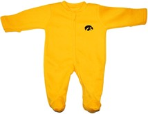 Iowa Hawkeyes Fleece Footed Romper