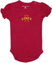 Iowa State Cyclones Puff Sleeve Bodysuit