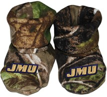 James Madison Dukes Realtree Camo Baby Bootie