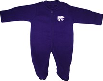 Kansas State Wildcats Fleece Footed Romper