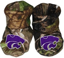 Kansas State Wildcats Realtree Camo Baby Bootie