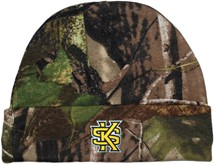 Kennesaw State Interlocking KS Newborn Realtree Camo Knit Cap