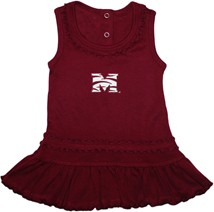 Morehouse Maroon Tigers Ruffled Tank Top Dress