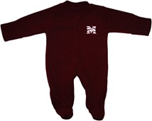Morehouse Maroon Tigers Fleece Footed Romper