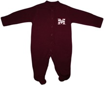Morehouse Maroon Tigers Footed Romper