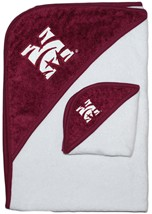 Official Morehouse Maroon Tigers Hooded Towel/Washcloth Set